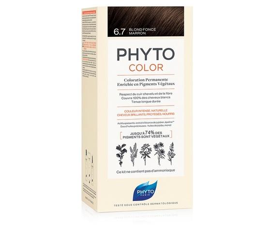 Phyto Promo Phyto Phyto color Colorazione Permanente 6.7 Biondo Scuro tabacco