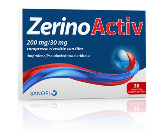 SANOFI ZERINOACTIV*20 cpr 200 mg + 30 mg