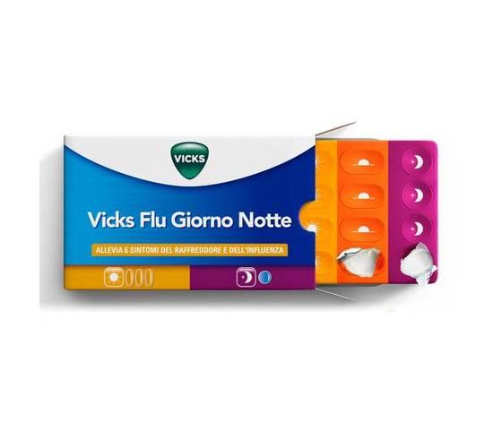 PROCTER & GAMBLE VICKS FLU GIORNO NOTTE*12 cpr giorno + 4 cpr notte