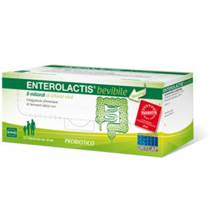 Sofar Enterolactis Bevibile 8 miliardi probiotico 12 flaconcini