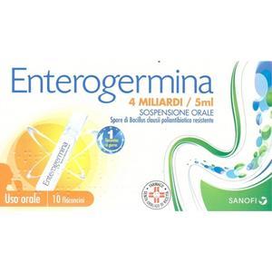 Enterogermina 4 Miliardi/5Ml 10 Flaconcini Sanofi