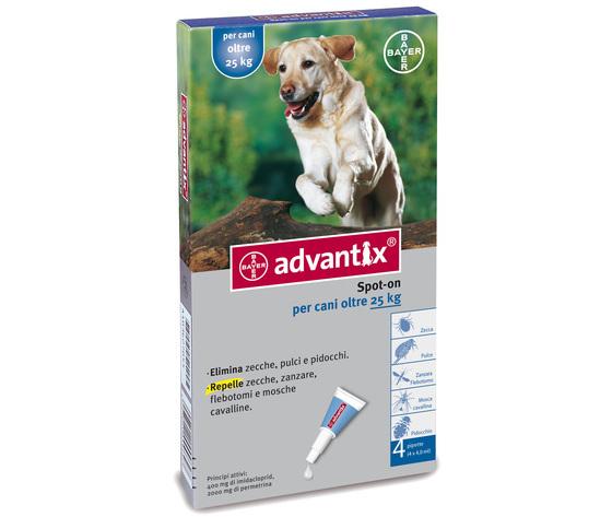 Advantix Spot-On 4 Pipette Per Cani Oltre 25 Kg Bayer