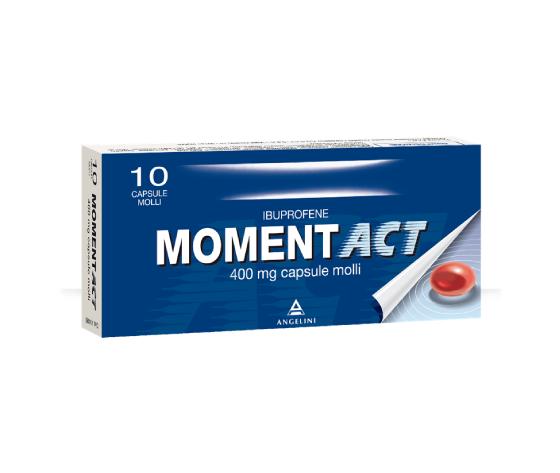 Moment Act 400 mg 10 capsule molli Angelini