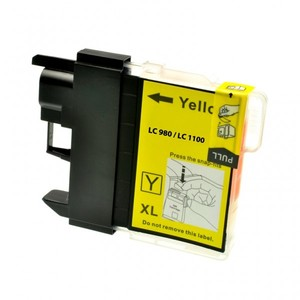 CARTUCCIA COMPATIBILE con BROTHER LC-980 LC-1100 Yellow