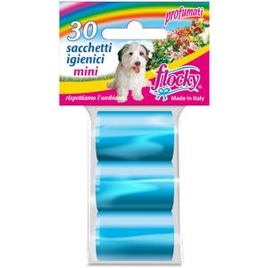 Flocky Shopper Igienici Professionali Cani Foro Strappo Mini Azzurro 10X3 Rotoli