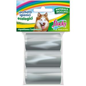 Flocky Shopper Igienici Professionali Cani Ecologici Foro Strappo 15X3 Rotoli