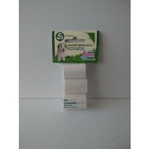 Flocky Sacchetti Igienici Cani Biodegradabili Foro Strappo 10X3 Rotoli