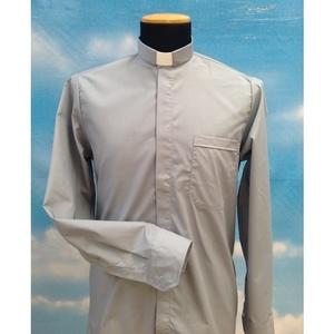 Camicia clergy grigio chiaro 3ML