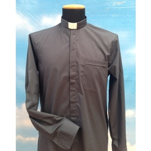 Camicia clergy grigio scuro 4ML