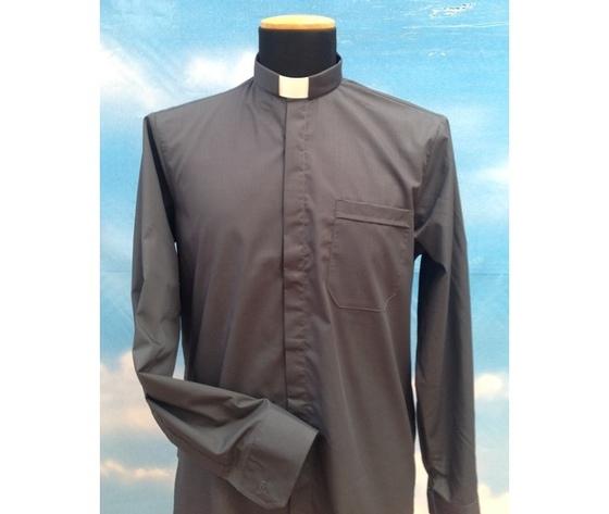 Camicia clergy grigio scuro 4ML