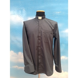 Camicia clergy grigio scuro 14ML
