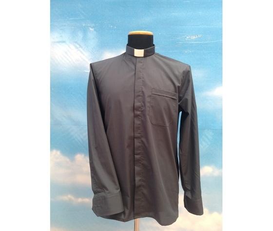 Camicia clergy grigio scuro 14ML
