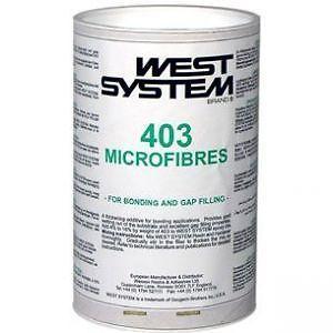 WEST SYSTEM 403 MICROFIBRE DA 150G O WEST SYSTEM 406 SILICONE COLLOIDALE DA 60G