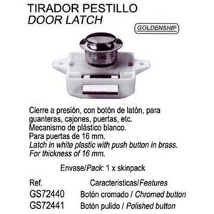 BOTTONE A PRESSIONE IN OTTONE CROMATO PER VANI PORTA OGGETTI