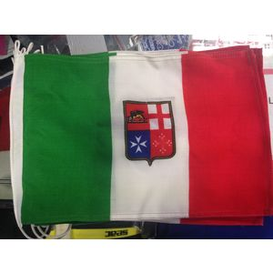 BANDIERA MERCANTILE ITALIANA MARINA PER BARCA YACHT GOMMONE RESISTENTE NAUTICA