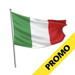 PROMO BANDIERA ITALIA IN POLIESTERE CON LACCI mis. 70 x 100 cm