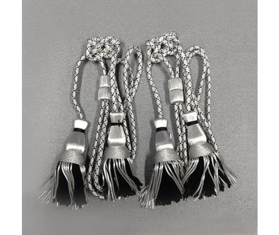 Cordoniera argento nero