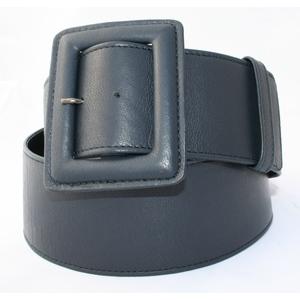 cintura donna nappa nera fibbia ricoperta