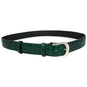 cintura uomo  coccodrillo verde