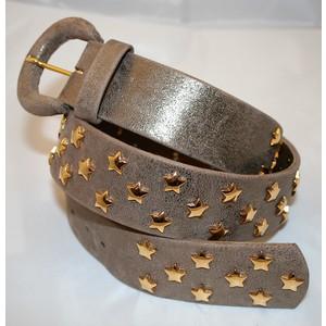 Cintura donna nappa bronzo dorato rivetti stella dorati