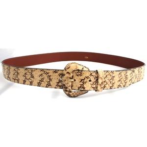 cintura in serpente roccia fibbia ricoperta