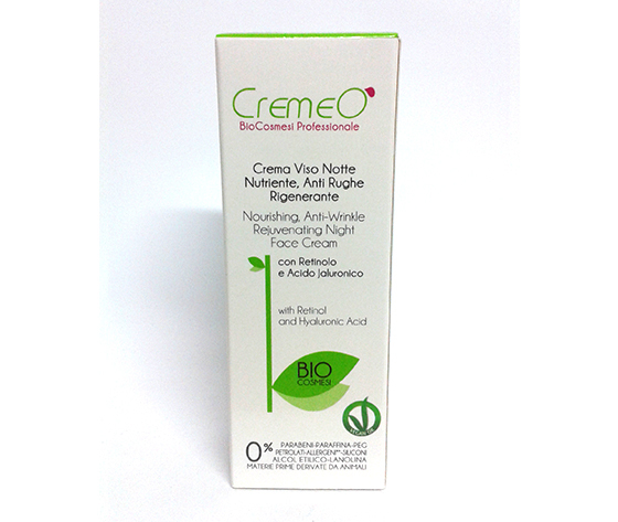 Crema Viso Notte Nutriente, Anti Rughe Rigenerante