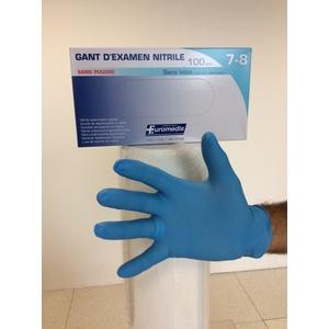 GUANTO NITRILE 4,4 grammi SENZA POLVERE, - BLU 240MM. TG.XL