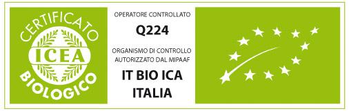 Certificato di produttore biologico emesso da ICEA