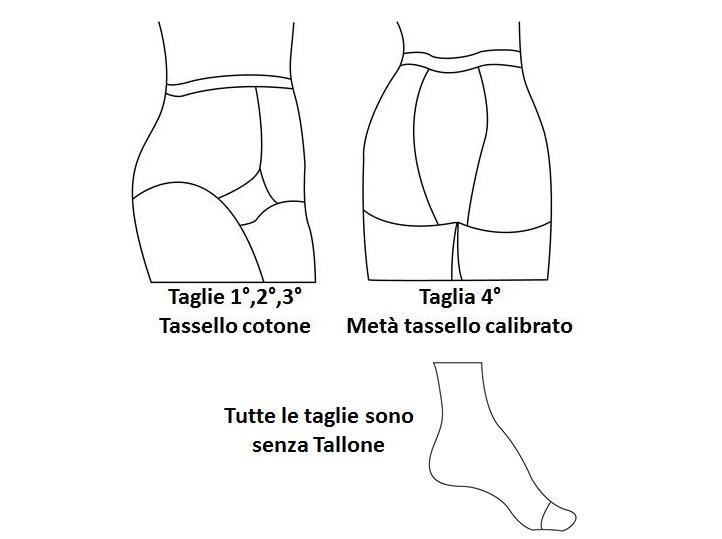 Collant elastico contenitivo 70 denari a compressione graduata